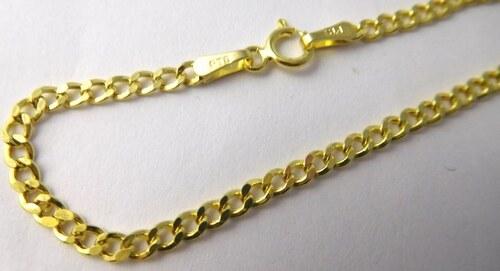 ae9b8db0d Pretis Pánský pevný mohutný zlatý náramek 20cm 585/1,20gr 3640175 ...