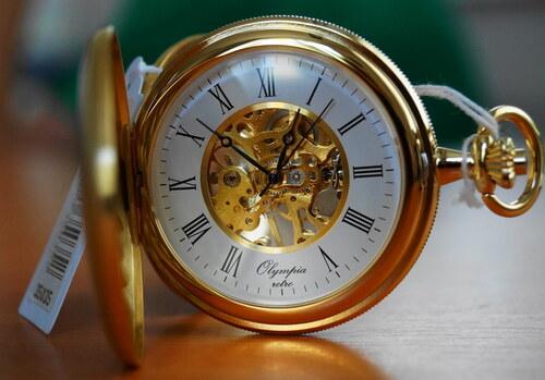6b3ba0285b0 Mechanické kapesní hodinky Olympia 35035 s mechanickým strojkem s  natahováním