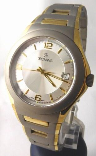 a6ca52ed586 Pánské titanové antialergické švýcarské hodinky Grovana 1520.1292 ...