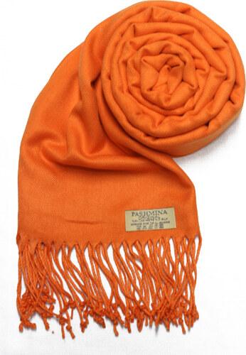 8160d66b1f8 Carlo Romani Dámská oranžová pašmína   Dámská oranžová šála - Glami.cz