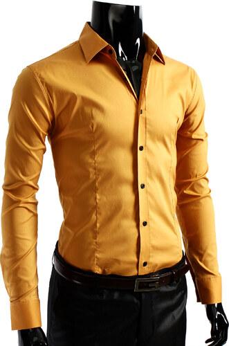 969975ab06f Pánská košile - žlutá - Glami.cz