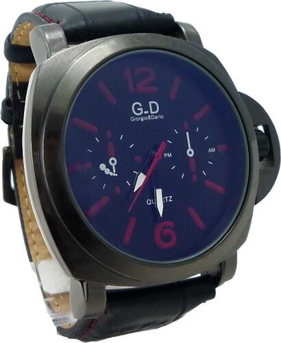 Pánské kožené hodinky G.D Time černé 259P - Glami.cz 07e649b195