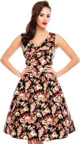 Dolly and Dotty retro šaty May černé s květinami - Glami.cz ab872a9d04