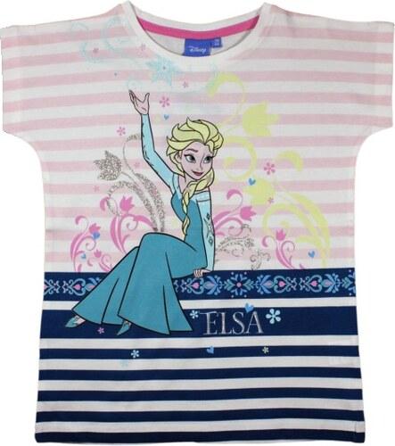 e46ae04fd3ef E plus M Dievčenské prúžkované tričko Frozen - farebné - Glami.sk