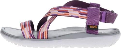ff0d8c0e2dc0 Oranžovo-fialové vzorované dámske sandále Teva - Glami.sk