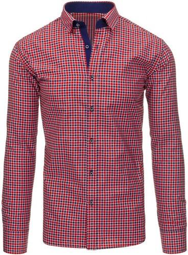 Červeno-modře kostkovaná košile s dlouhým rukávem - Glami.cz ae2cb6d030
