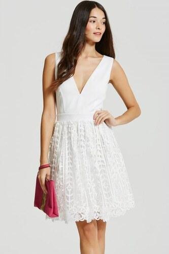 f34ab6a1fd21 LITTLE MISTRESS Biele mini šaty s čipkou - Glami.sk