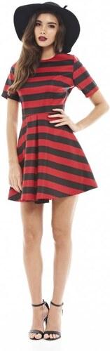 107279e217a8 TFNC Čierno-červené mini šaty - Glami.sk