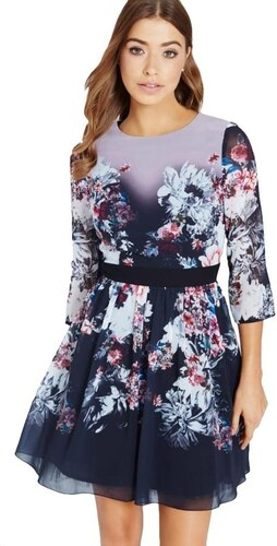 LITTLE MISTRESS Šifónové šaty s jesenným kvetinovou potlačou - Glami.sk 15cd1c0bc8