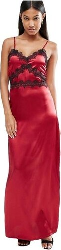 HUSH HUSH Vínové maxi šaty ve stylu noční košilky - Glami.cz 4852432071