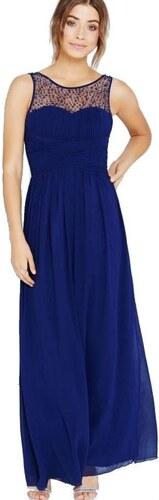 LITTLE MISTRESS Dlhé modré šaty s korálkami na topov - Glami.sk 7b29ce3b806