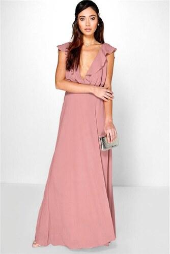BOOHOO Načervenalé šifonové šaty Daisy - Glami.cz c3add1757e