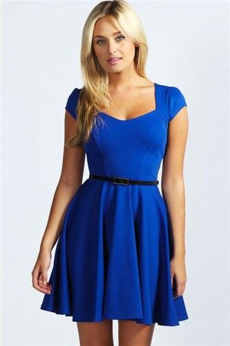 849919463ed0 BOOHOO Kobaltovo modré šaty Lara - Glami.sk