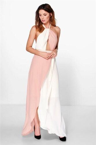 BOOHOO Dvoubarevné šifónové šaty Kicho - Glami.cz 675f178bf7