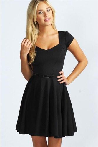 BOOHOO Čierne kokteilové šaty Lara - Glami.sk e226654e493