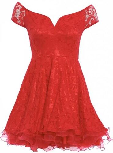 a52f94098f88 TFNC Červené šaty skater střihu - Glami.cz
