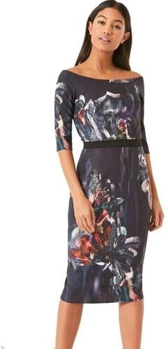 LITTLE MISTRESS Květinové šaty s volnými rameny a s 3 4 rukávy ... b2f51927f54
