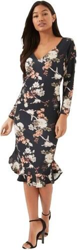 dc454e739d05 LITTLE MISTRESS Puzdrové kvetinové šaty s peplum volánom - Glami.sk