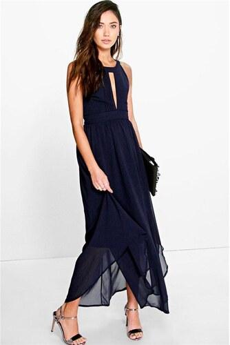 BOOHOO Tmavo modré maxi šaty Marcie - Glami.sk c60452780b6