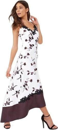LITTLE MISTRESS Luxusné maxi šaty s futuristickým kvetinový potlačou ... 110fa2e707c