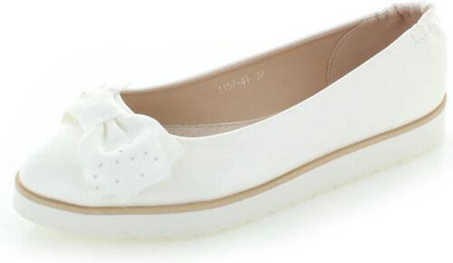 795fca6a7 Vices Biele balerínky Ballet Bow - Glami.sk