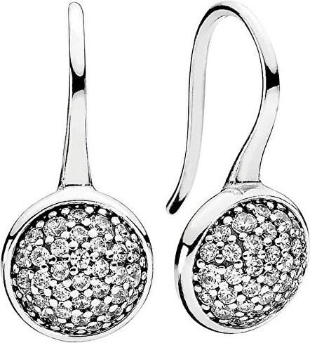 Pandora Slušivé stříbrné náušnice s krystaly 290734CZ - Glami.cz c0db6e4fca4