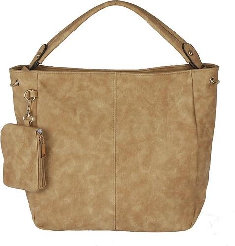 4ba3309d7dbf Hnedá shopper kabelka na rameno s kapsičkou - Glami.sk