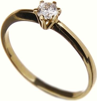 Zásnubní zlatý prsten s diamantem Briline 40903 - Glami.cz 7ebf3200a4e