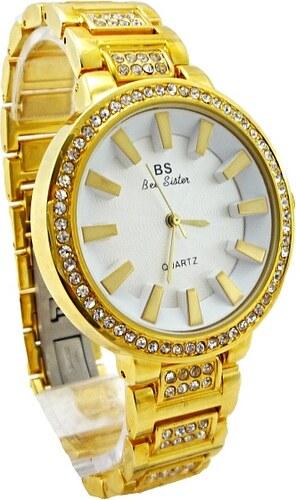 592d2e317b3 BS Quarzt Dámské hodinky BS Quartz Bee sister zlaté 274D - Glami.cz