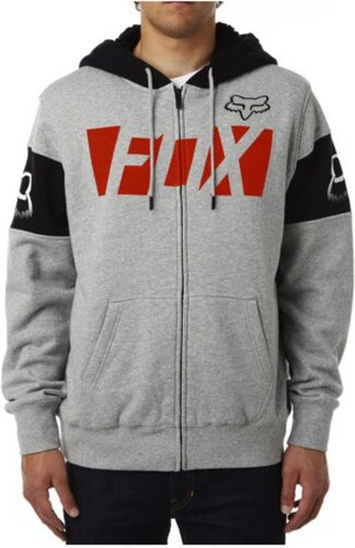 27b84da2aa Pánská mikina Fox Libra sherpa Zip fleece lightt grey XL - Glami.cz