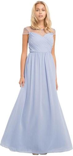 CHI CHI LONDON Maxi šaty s posiatym dekoltom a chrbtom korálkami ... 3fb70b73e7e