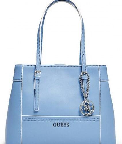 Kabelka Guess Delaney Shopper Tote modrá - Glami.cz 2976095df9e