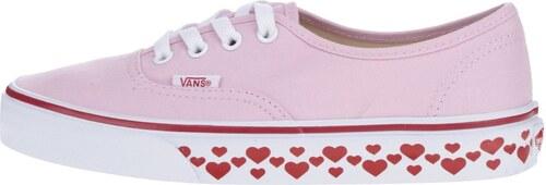 Ružové dámske tenisky s motívom srdiečok VANS Authentic - Glami.sk 88a69a7c5c