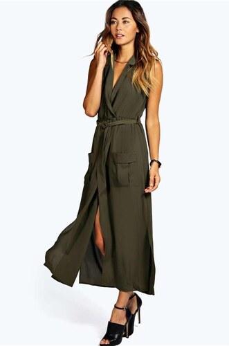 BOOHOO Štýlové maxi shirt šaty Paige - Glami.sk 840fd09f724