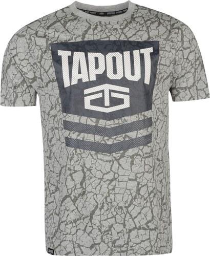 133bcf355c4f Triko Triko Tapout Chevron T Shirt pánské Grey Marl - Glami.cz