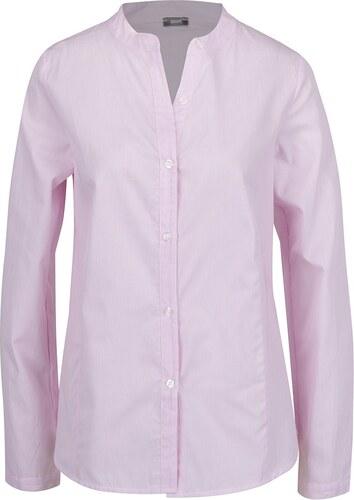 Světle růžová pruhovaná košile bez límečku ZOOT - Glami.cz c357f40d6a