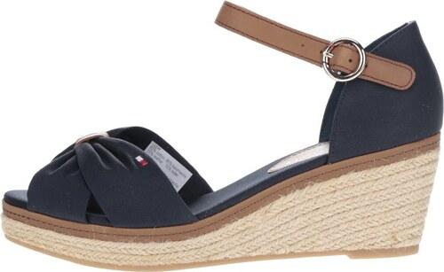 cf052cff7277 Čierne dámske topánky na klinovom podpätku Tommy Hilfiger - Glami.sk