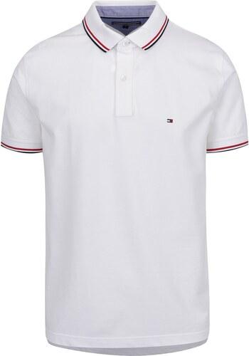 Bílé pánské polo triko s proužky Tommy Hilfiger - Glami.cz 1c45fbbad62