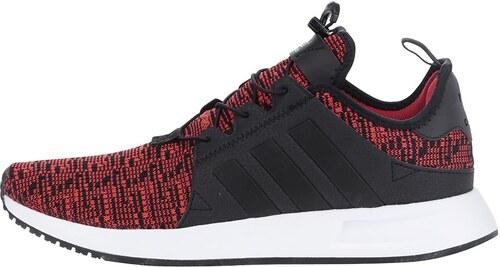 Černo-červené žíhané pánské tenisky adidas Originals X  PLR - Glami.cz dd24fc2bac