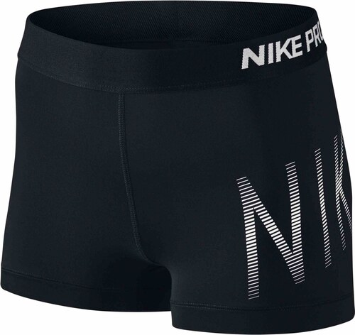 Dámské kraťasy Nike W NP CL SHORT 3IN SUMM GRX BLACK BLACK WHITE ... 6b684a8354