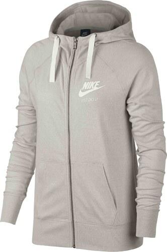 7d5ccda9242 Dámská mikina Nike W NSW GYM VNTG HOODIE FZ OATMEAL SAIL - Glami.cz
