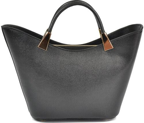 Carla Ferreri Elegantná kožená kabelka 466 NERO - Glami.sk b3432e53c4a