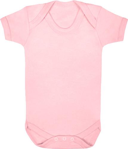 13fb98c47030 Značky dětem Body z organické bio bavlny vel.12-18 měsíců růžové ...