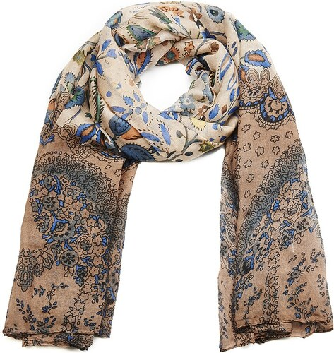 Intrigue Velký šátek na krk se vzorem květin a lístečků - Glami.cz ef415de6e1