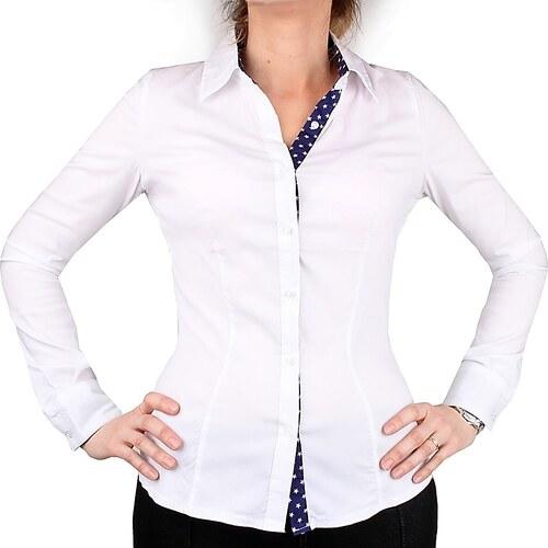 Forget Me Not Bílá dámská košile M-9262WH - Glami.cz d22225e546