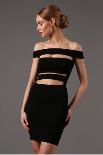 f45e73daa98c Fasardi Čierne extravagantné mini šaty - Glami.sk