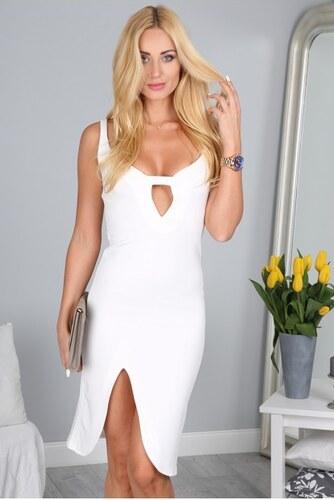 Fasardi Smotanové mini šaty s hlbokým výstrihom - Glami.sk d8c0c6cb1c