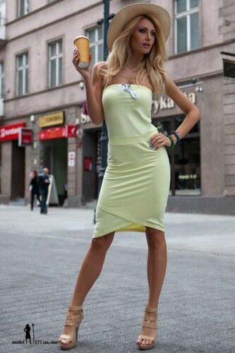 Fasardi Letné citrónové asymetrické šaty - Glami.sk cc394d1676