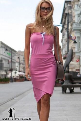 Fasardi Letné ružové asymetrické šaty - Glami.sk 2b35784e33