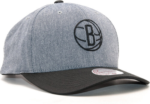 reputable site ef683 62e61 Kšiltovka Mitchell   Ness Link Flexfit 110 Brooklyn Nets Grey Black Snapback